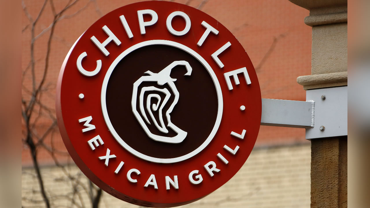 This Thursday, Jan. 12, 2017, photo shows the sign on a Chipotle restaurant in Pittsburgh.