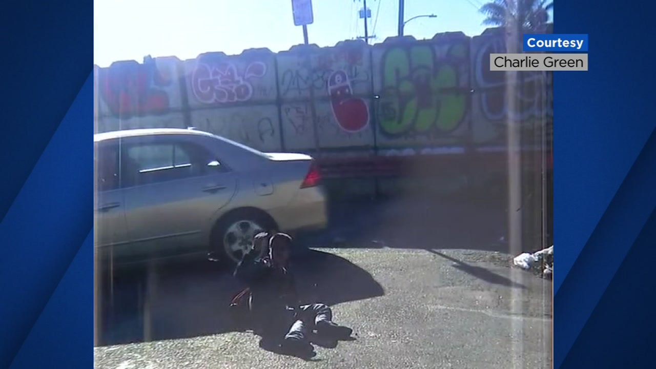 A witness captured this image following the aftermath of a hit-and-run in Oakland, Calif. on Wednesday, Jan. 3, 2019.