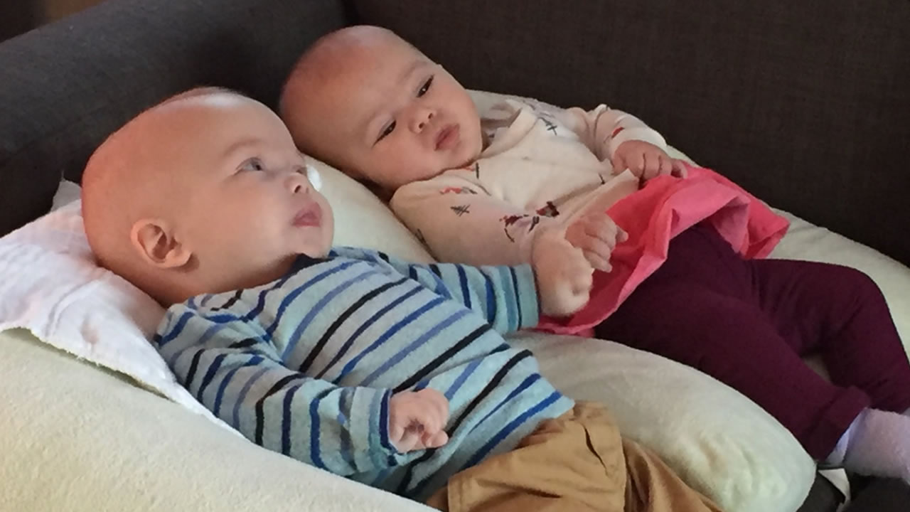 This image dated Thursday, Jan. 03, 2019 shows twins Yael and Yoel Ilinetsky, who are battling a rare disease called Canavan Disease.
