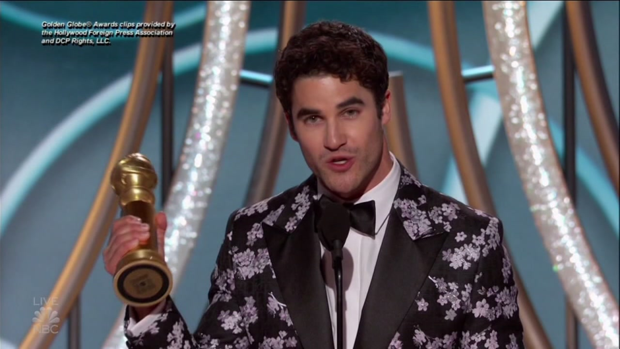 San Francisco-native Darren Criss wins best actor in a limited series or TV movie at the Golden Globes. Jan. 6, 2019