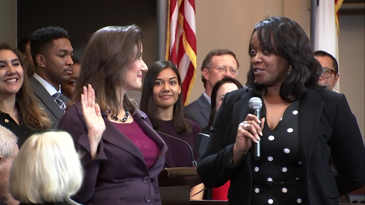 Oakland Mayor Libby Schaaf sworn in for her second term. Jan. 7, 2019.