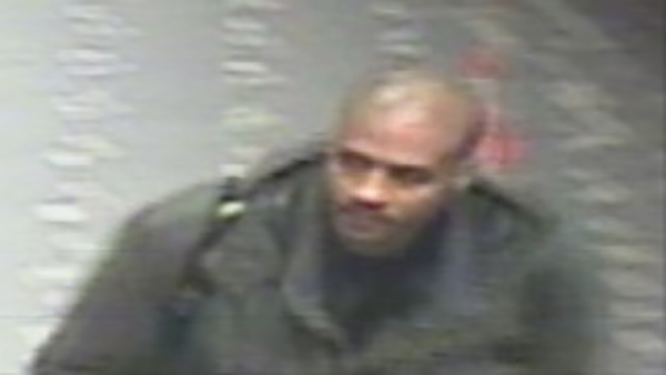 Surveillance photo of the suspect in the deadly shooting of 19-year-old Carlos Funez-Romero at West Oakland BART station on January 9, 2016.