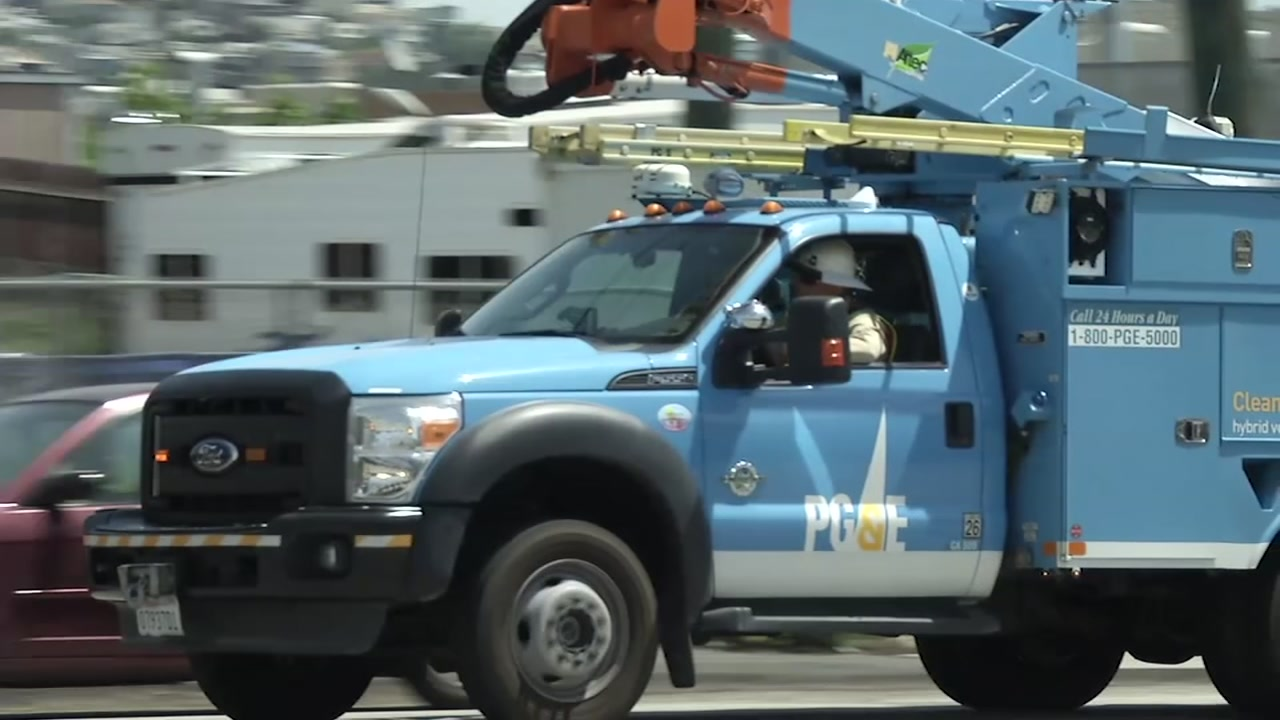 A PG&E truck is pictured in this undated file photo.