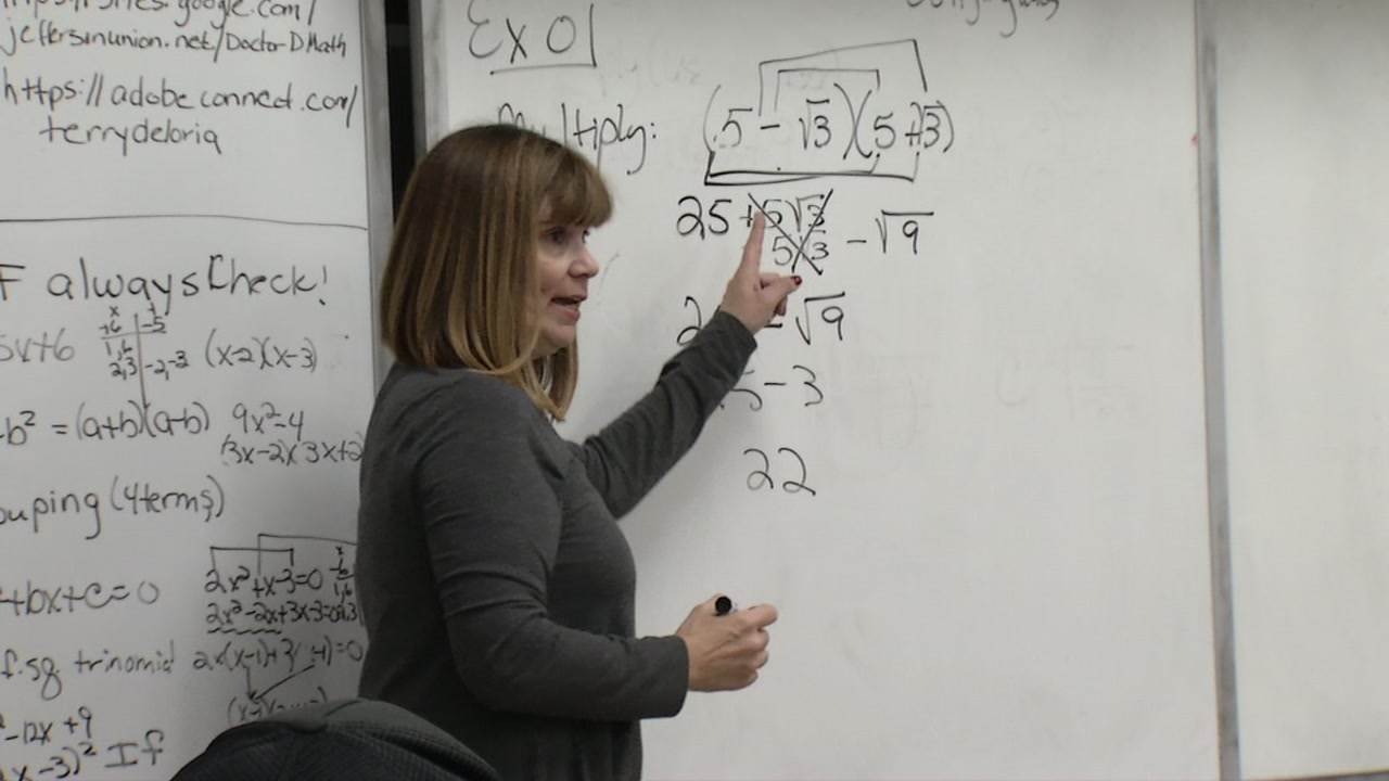 A superintendent is now teaching math class after the original teacher resigned in October to take a higher paying job outside of education.