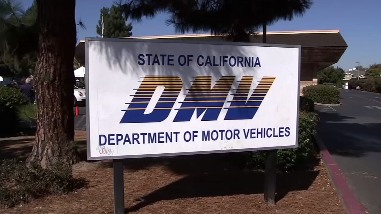 A DMV sign is pictured in this undated file photo.