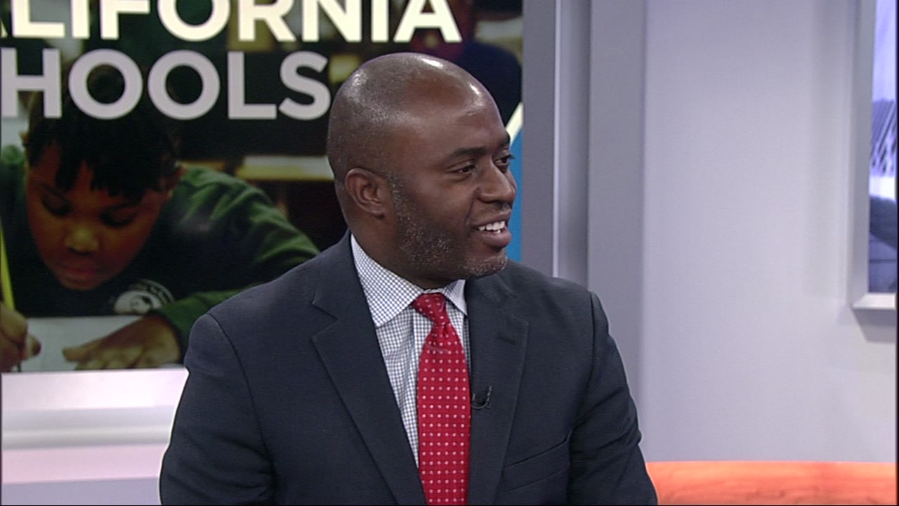 Californias school Superintendent Tony Thurmond is seen at ABC7 in San Francisco on Thursday, Jan. 17, 2019.