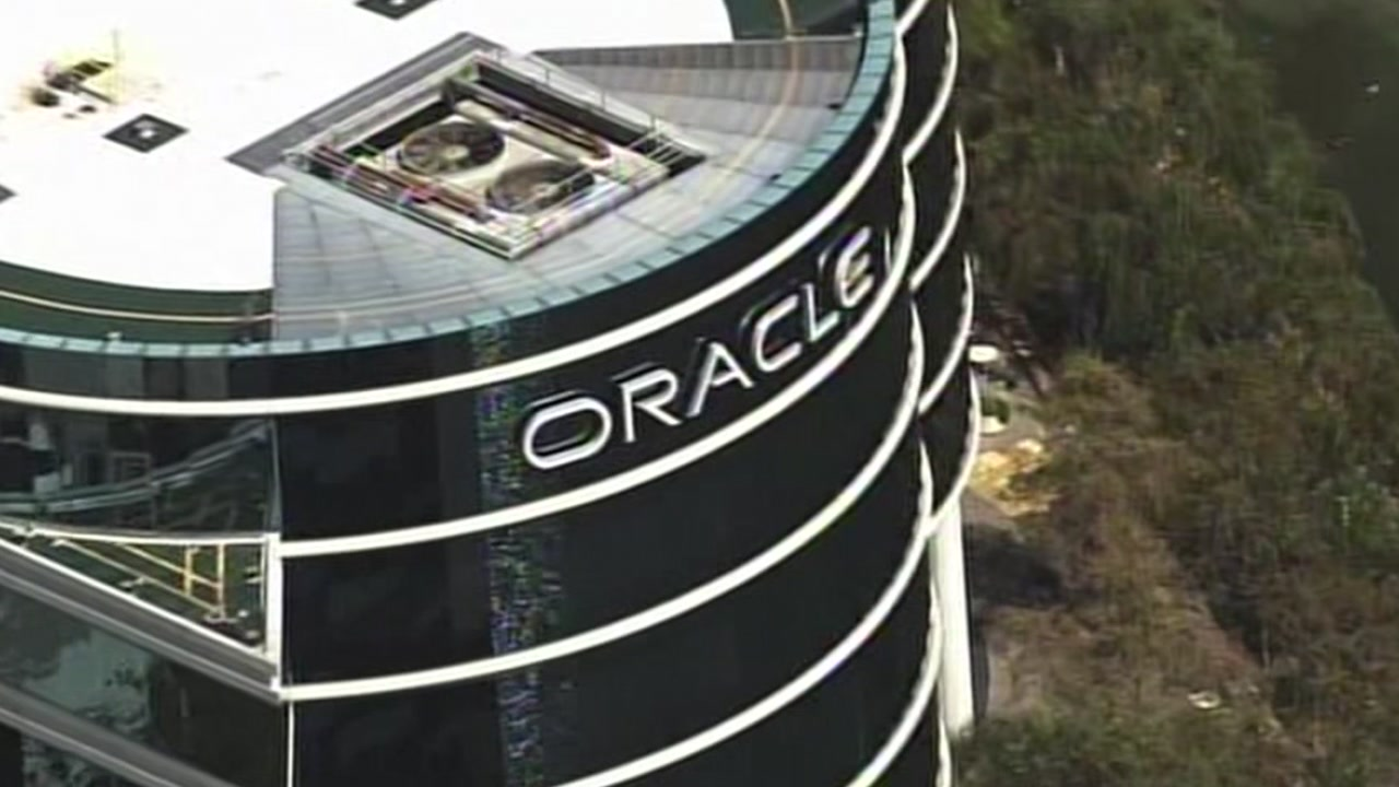 FILE -- Oracle headquarters in Redwood Shores, California.