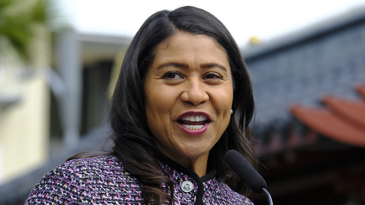 San Francisco Mayor London Breed at a news conference Tuesday, Oct. 2, 2018, in San Franciscos Chinatown.