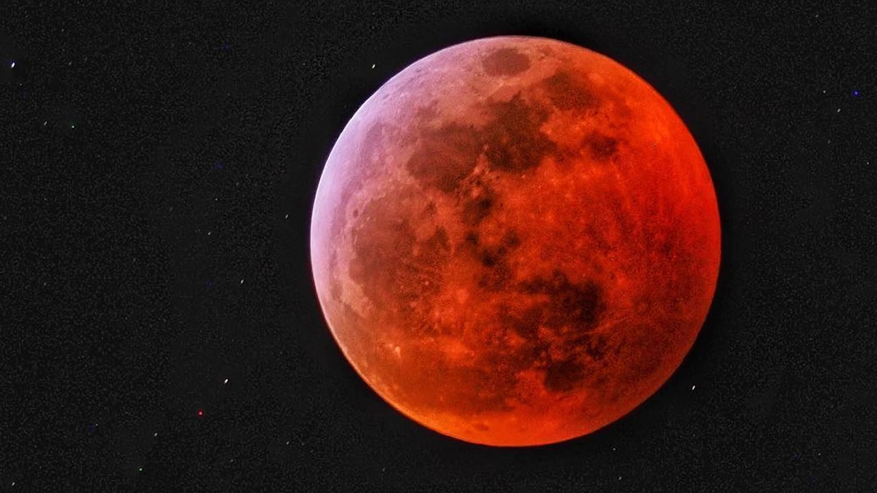 The super blood wolf moon lit up the sky over Penngrove, Calif. on Sunday, Jan. 20, 2019.
