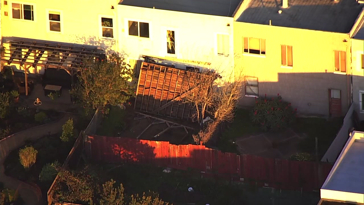Deck collapsed at San Francisco home.