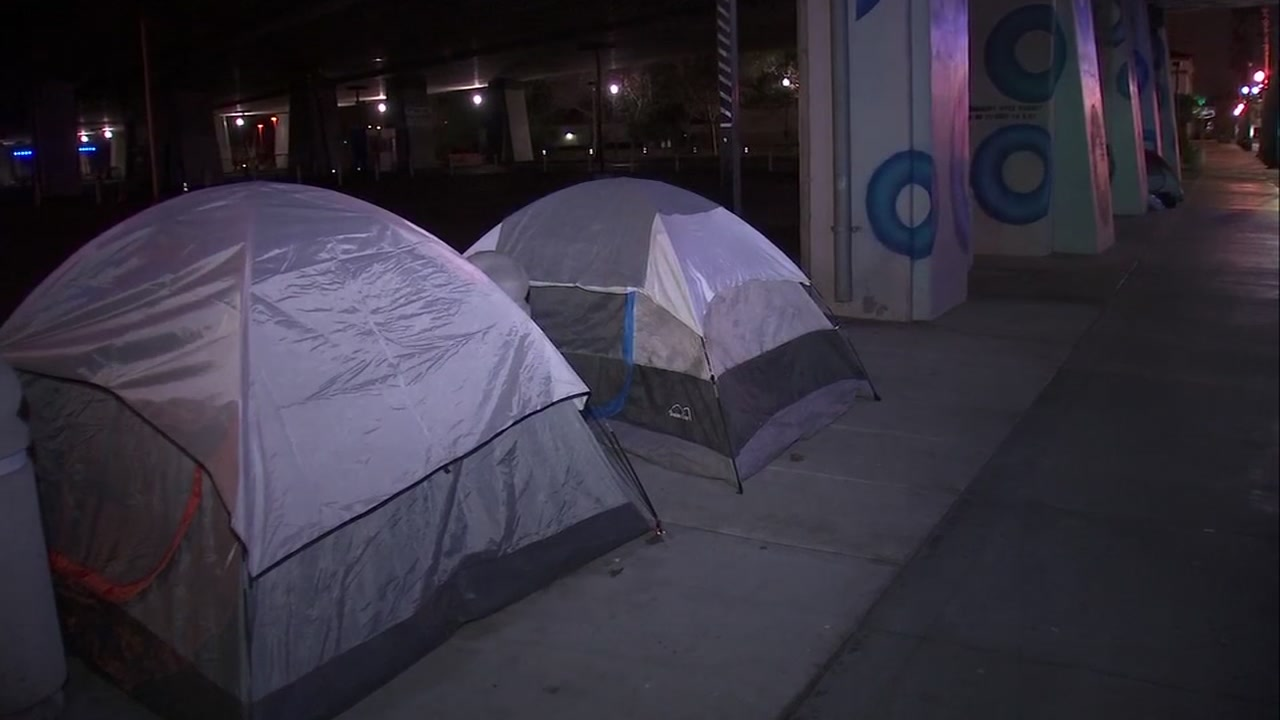 Tents in San Jose, California on Tuesday, January 29, 2019.