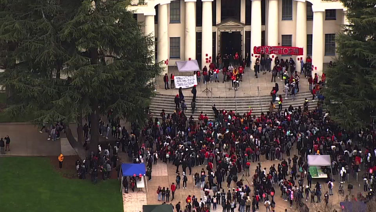 Students hold walkout at Oakland Tech High School in Oakland, California on Friday, February 1, 2019.