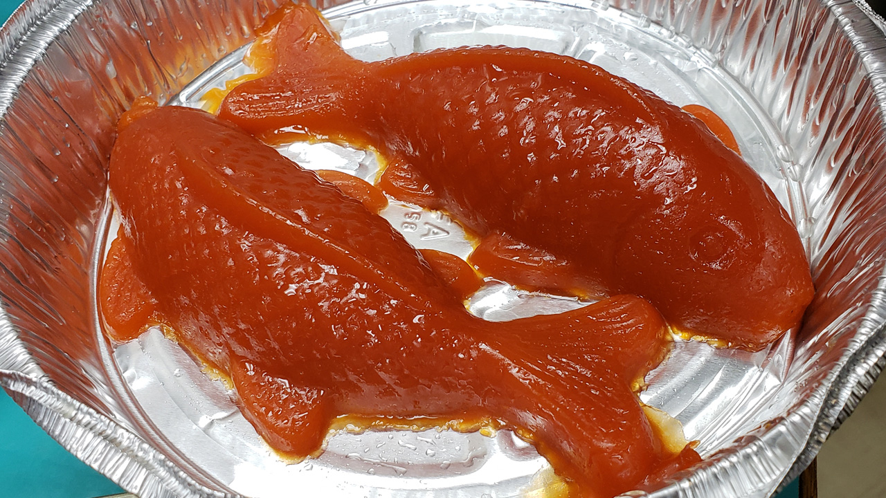 Fish made from vegetables is a popular dish on Lunar New Year, when families eat vegetarian dishes as a form of cleanse.