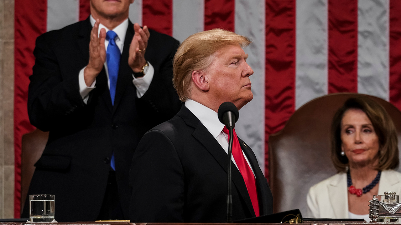 President Donald Trump gives his State of the Union address to a joint session of Congress, Tuesday, Feb. 5, 2019 at the Capitol in Washington.
