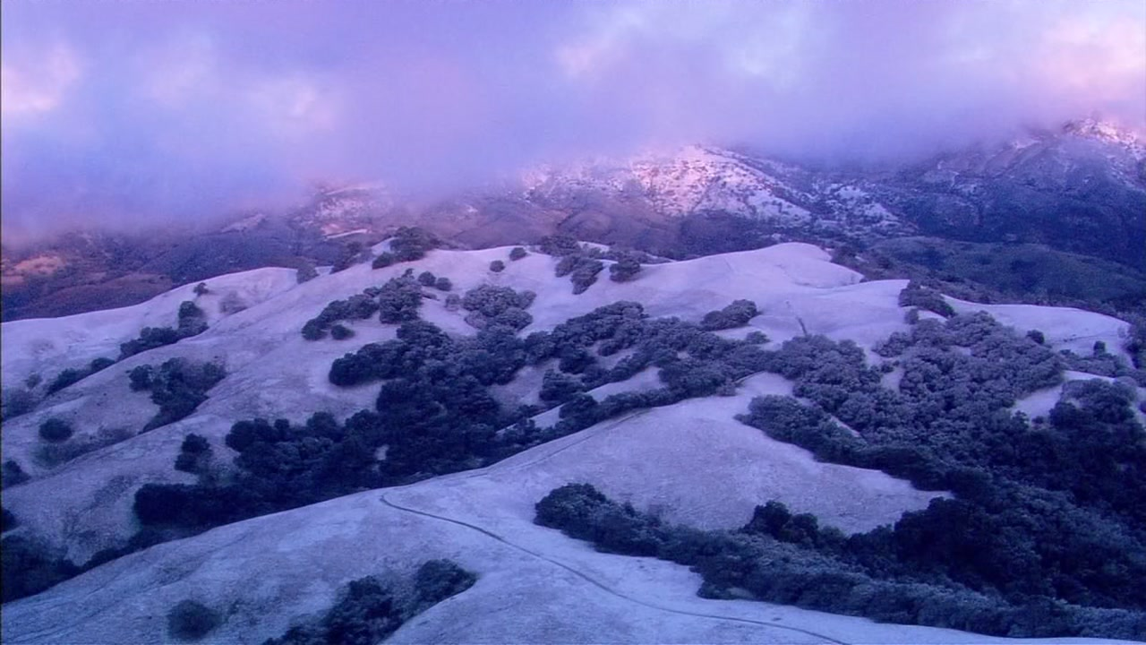 SKY7 was over the snow on Mt. Diablo on Tuesday, Feb. 5, 2019.