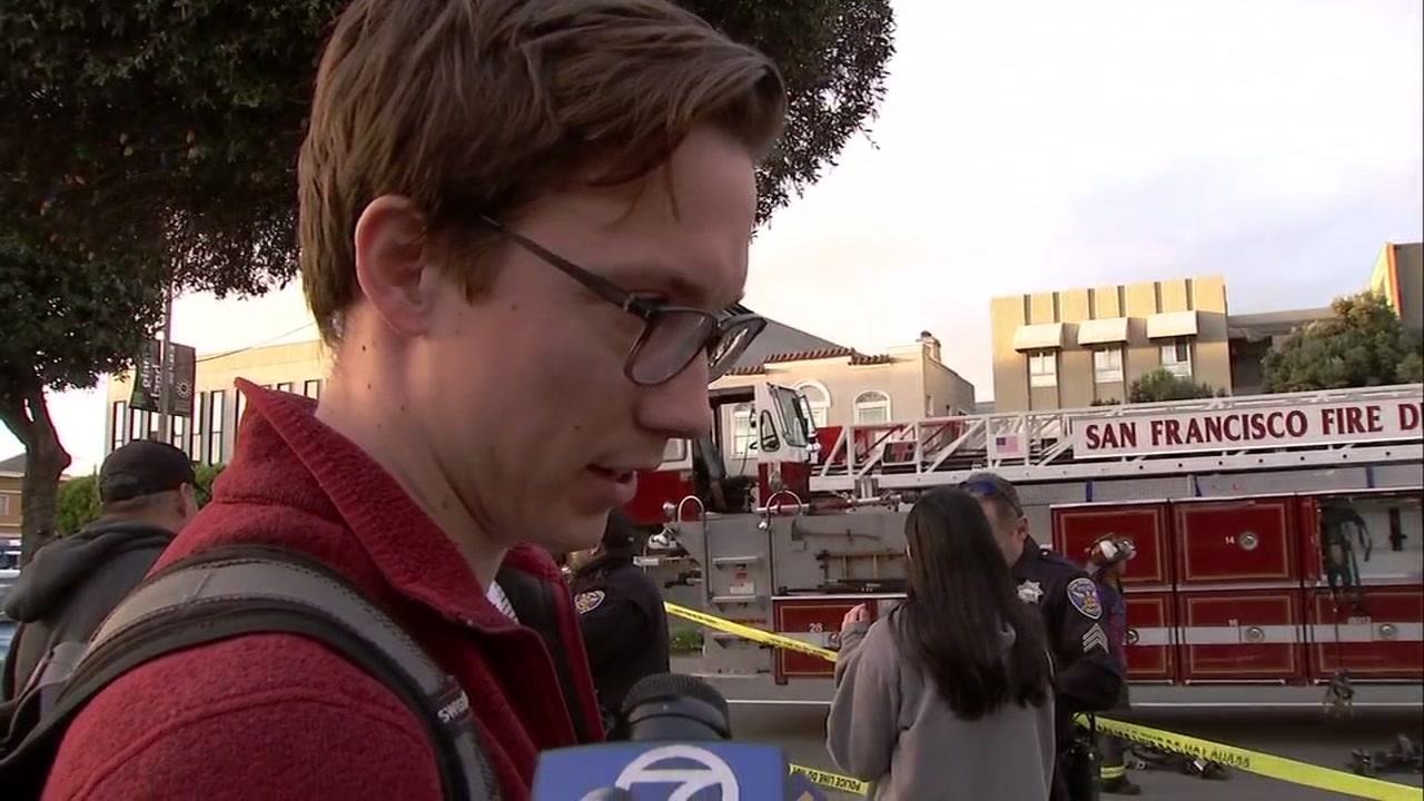 A witness who was there when the gas explosion happened in San Francisco recounts how they all escaped.