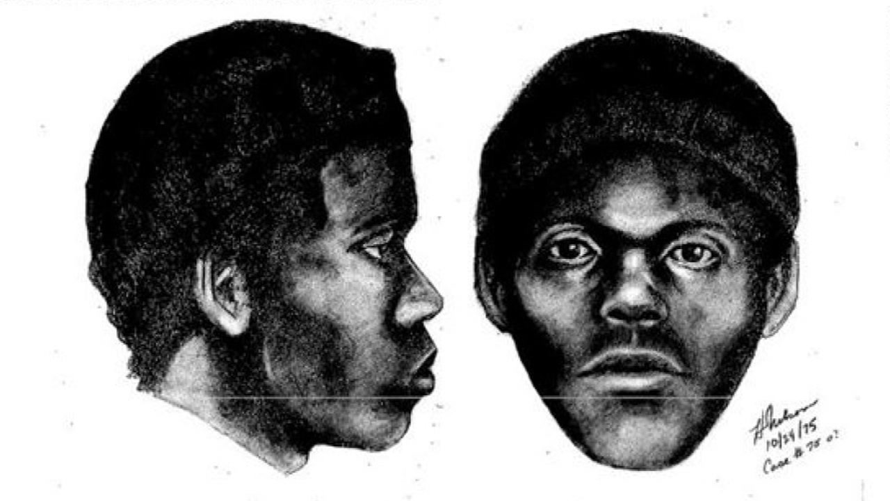 This undated sketch shows a suspect in a string of cold case murders in San Francisco in the 1970s.
