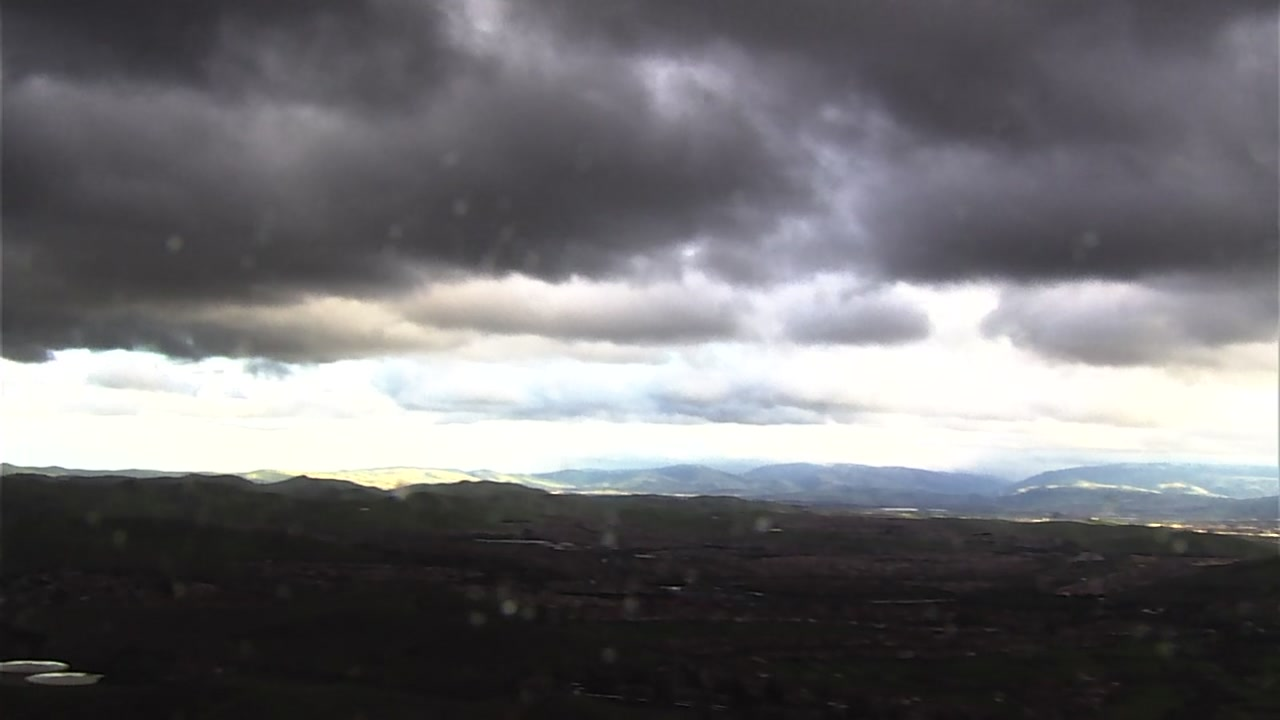 This image shows the cloudy conditions surrounding Mt. Diablo in Contra Costa County, Calif. on Saturday, Feb 9, 2019.