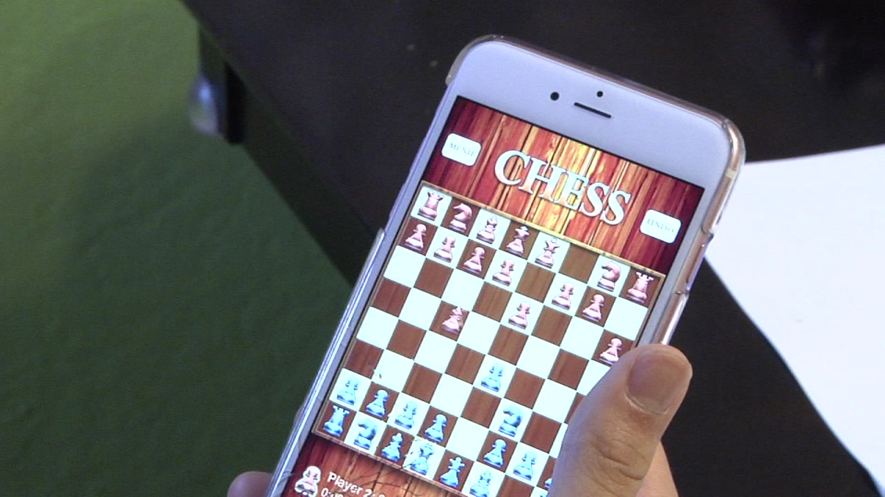 A game is shown in an iPhone in this undated file photo.