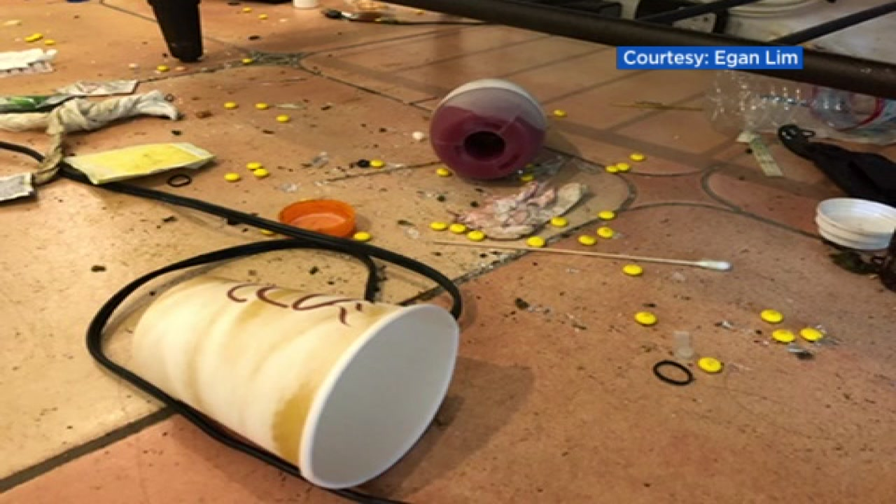This undated image shows trash allegedly left behind at an Airbnb rental in San Francisco.