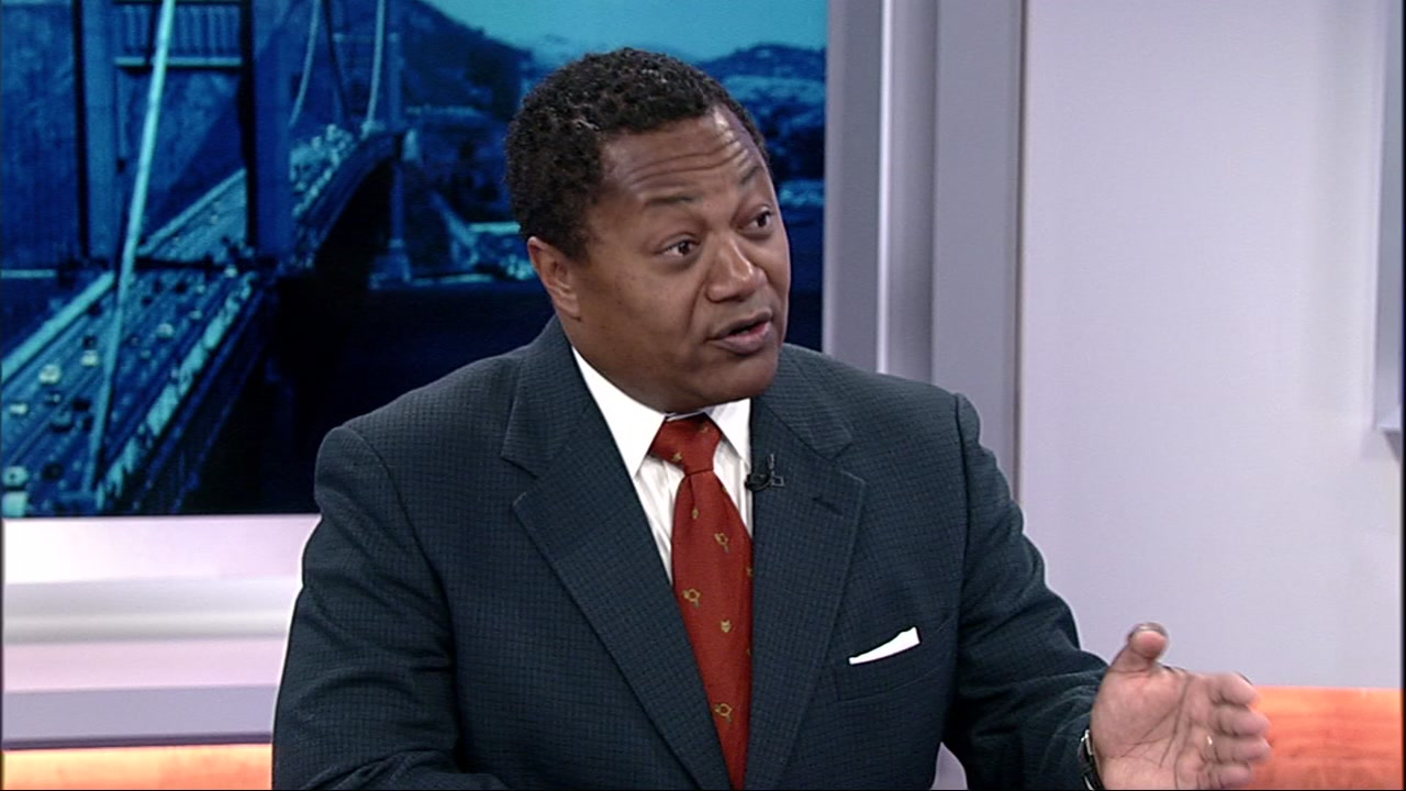 Bay Area lawyer Vernon Grigg in the ABC7 News studio on Sept. 7, 2018.