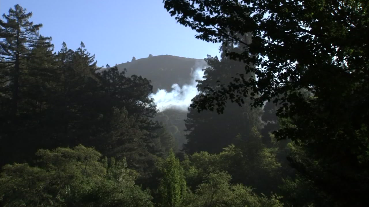 Fire in Marin County, California on Tuesday, September 11, 2018.