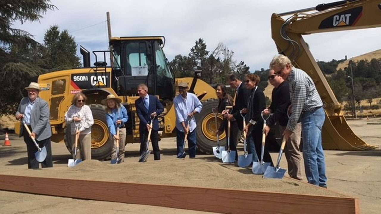 Officials break ground  on a combined housing and retail development project in the Oakland Hills on Wednesday, Sept. 12, 2018.