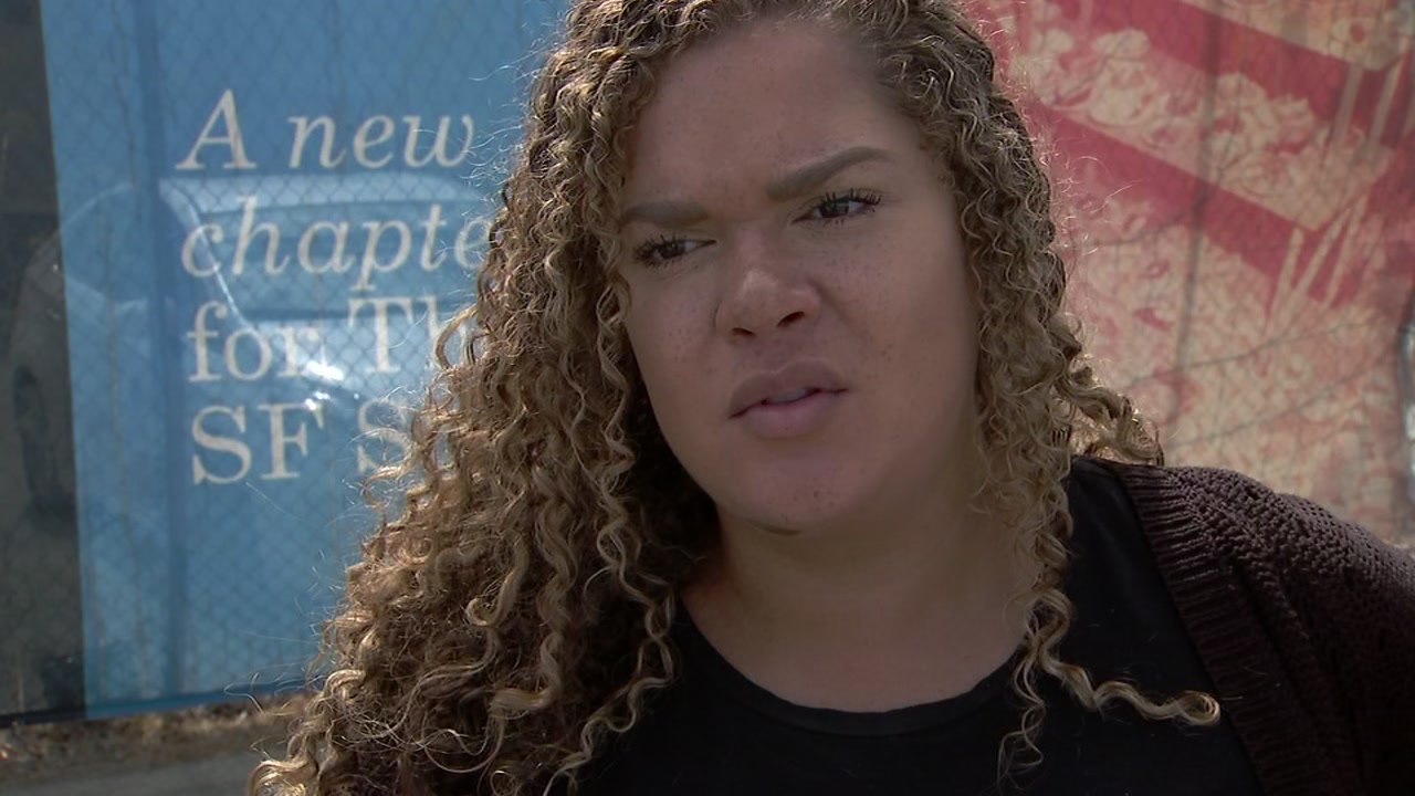 Hunters Point resident Seray Ellington, who is pregnant, spoke to ABC7 News on Sept. 14, 2018, about a radioactive object thats been found in her neighborhood.