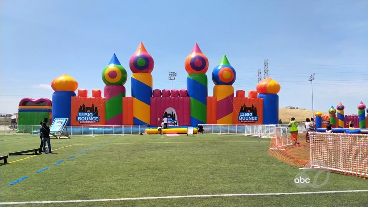 The Bounce House in May 2018 when it was assembled at the Twin Creeks Sports Complex in Sunnyvale, Calif.