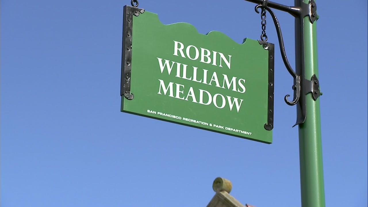 The Robin Williams Meadow sign was unveiled in San Franciscos Golden Gate Park on Friday, Sept. 14, 2018.