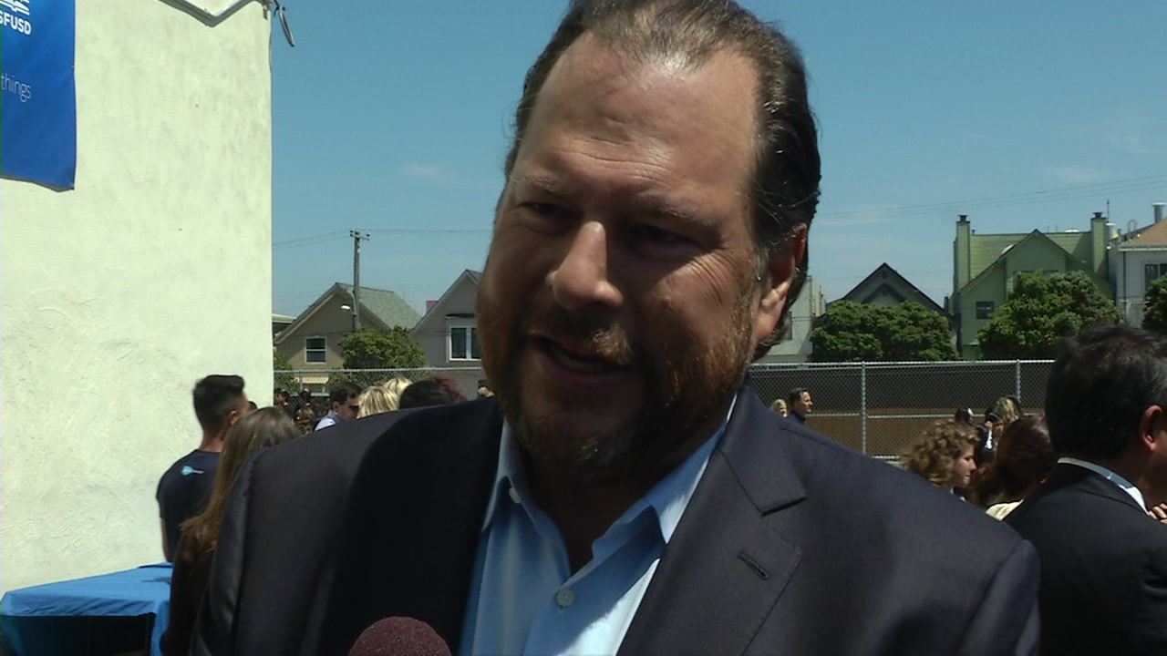 Marc Benioff is pictured in this undated file photo.