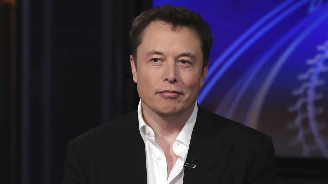 SpaceX billionaire founder and chief executive, and Tesla Motors CEO Elon Musk, is interviewed on the Fox Business Network, in New York, Wednesday, Sept. 17, 2014.