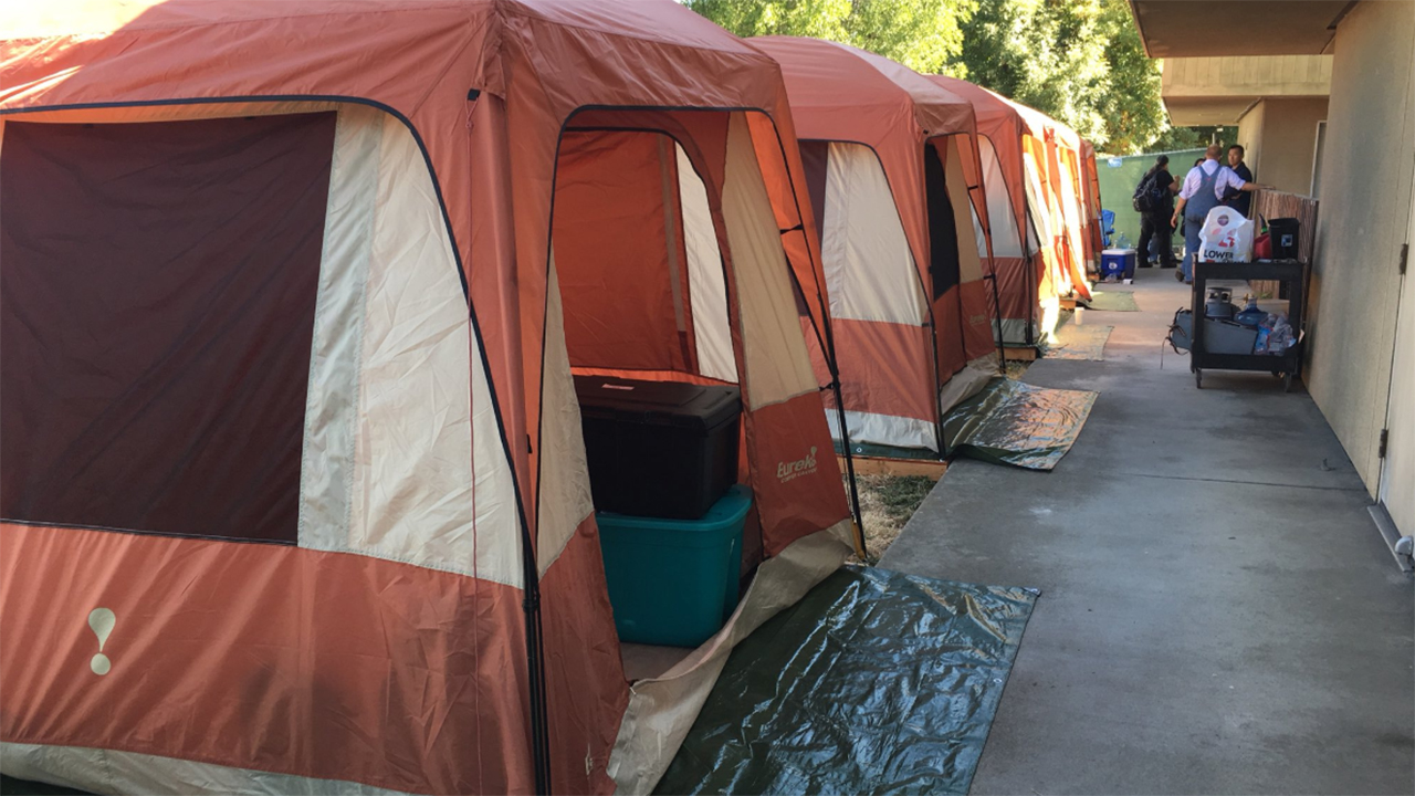Tent village in San Jose, California on Monday, September 17, 2018.