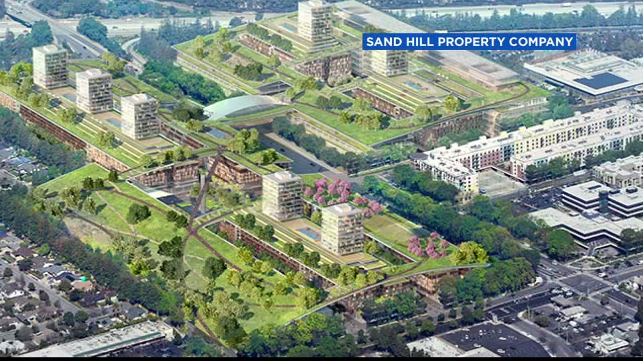 Sand Hill Property Company would like to turn the 58-acre site into a mixed-use project that includes about 2,400 housing units, some of them designated affordable.