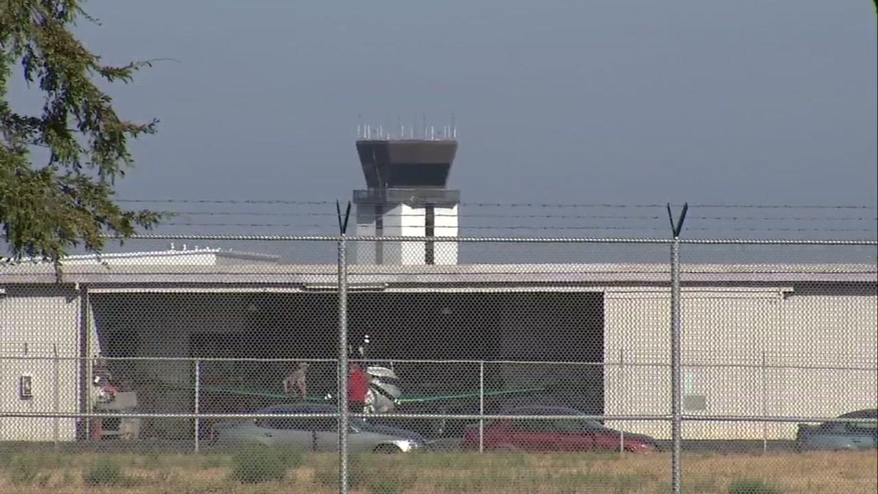 FILE -- Fence at Mineta San Jose International Airport