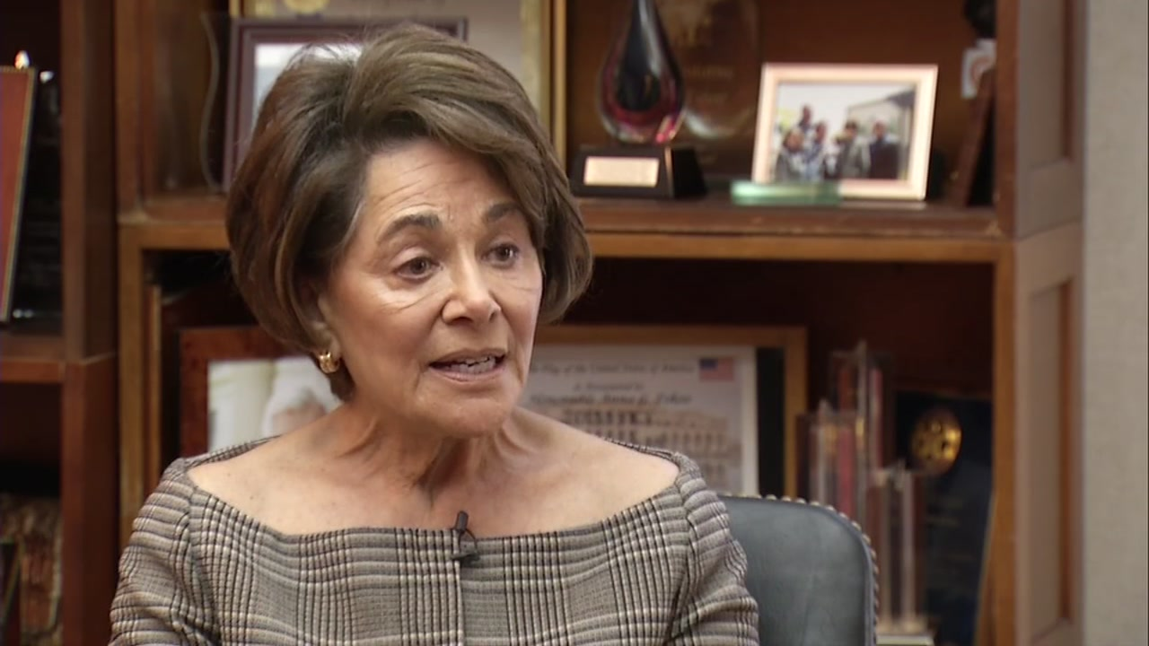 Congresswoman Anna Eshoo speaks to ABC7 News reporter David Louie on Thursday, Sept. 20, 2018.