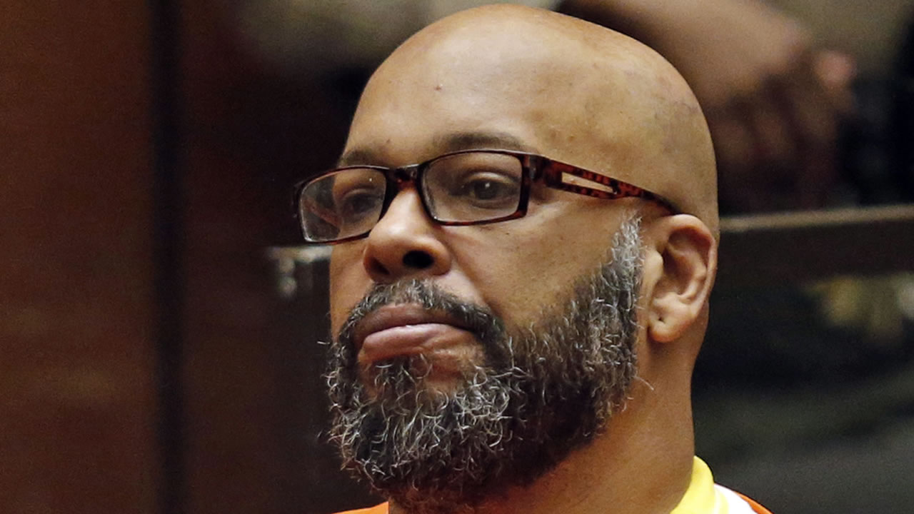 In this July 7, 2015, file photo, Marion Hugh Suge Knight sits for a hearing in his murder case in Superior Court in Los Angeles.