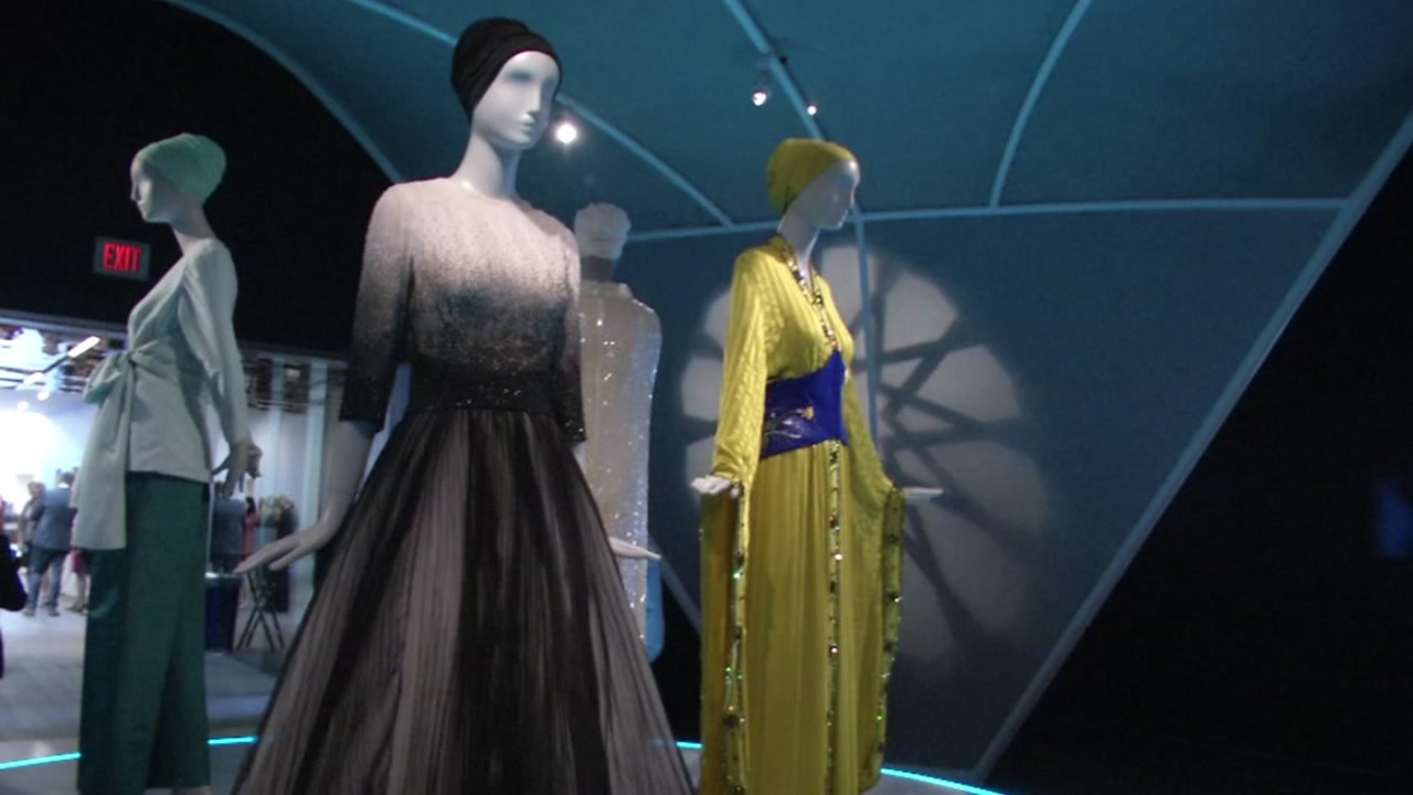 A new exhibit on Muslim fashion is pictured at the de Young Museum in San Francisco on Thursday, Sept. 20, 2018.