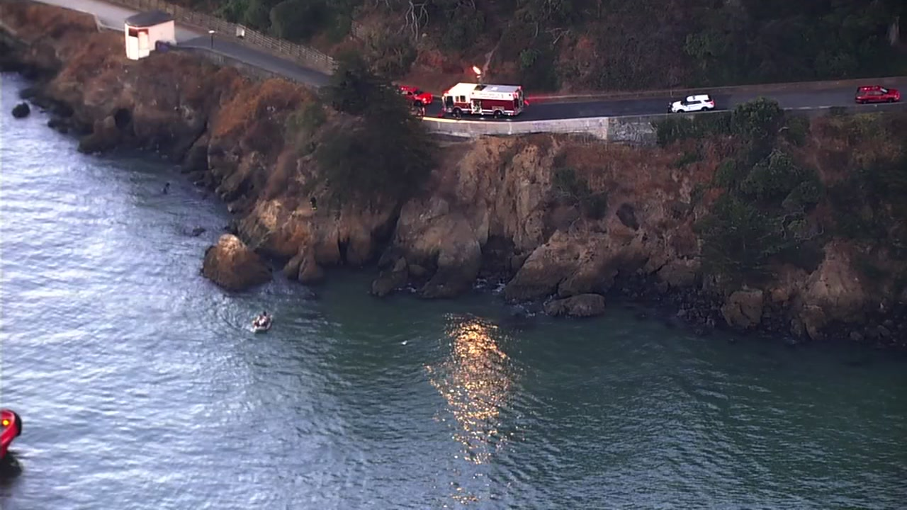 Scene of cliff rescue in San Francisco Bay on Thursday, September 20, 2018.