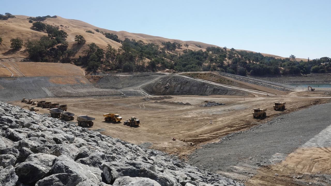The Calaveras Dam project is pictured on Friday, Sept. 21, 2018.