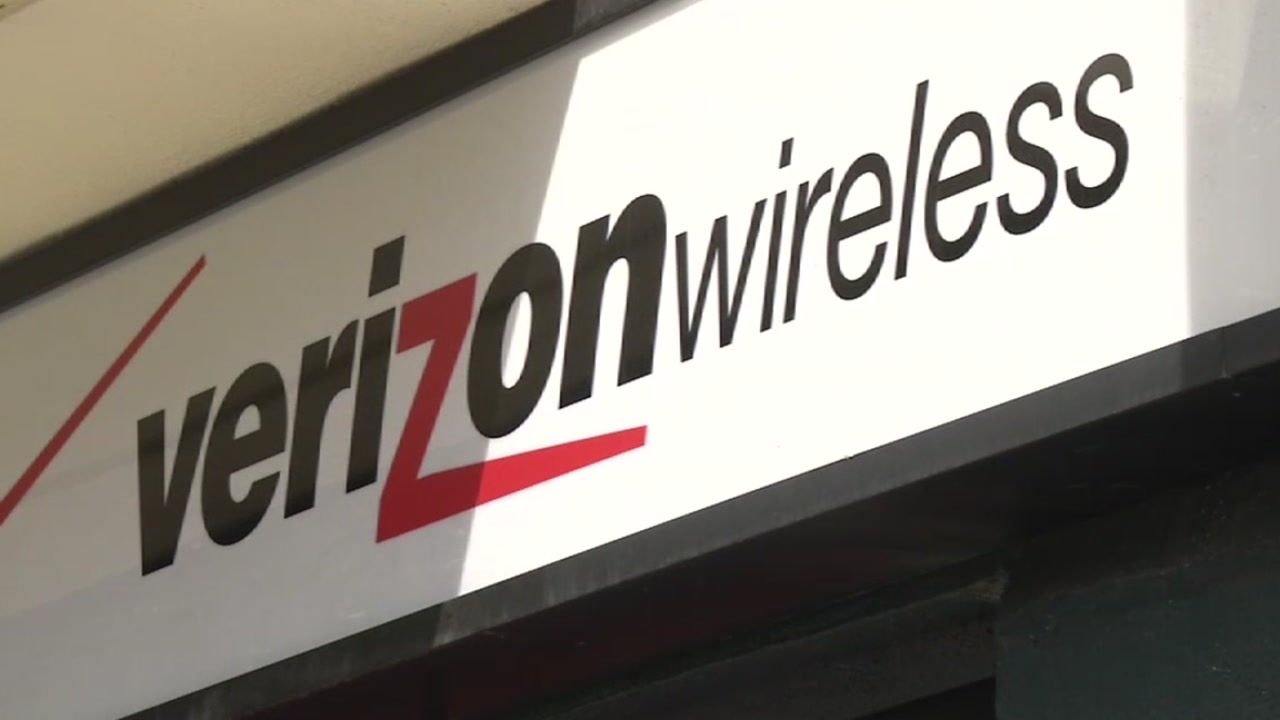 A Verizon Wireless sign is pictured in this undated file photo.