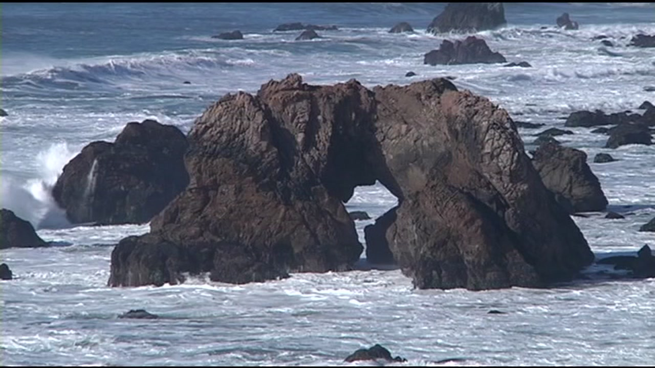 A rock formation off the Northern California coast.