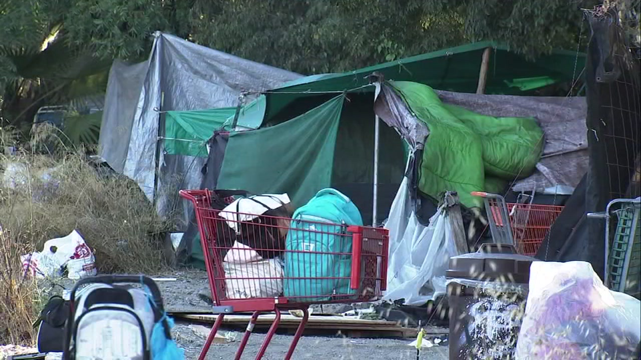 More than 20 homeless people are already living on the lot planned for the Hope Village encampment in San Jose, Calif.