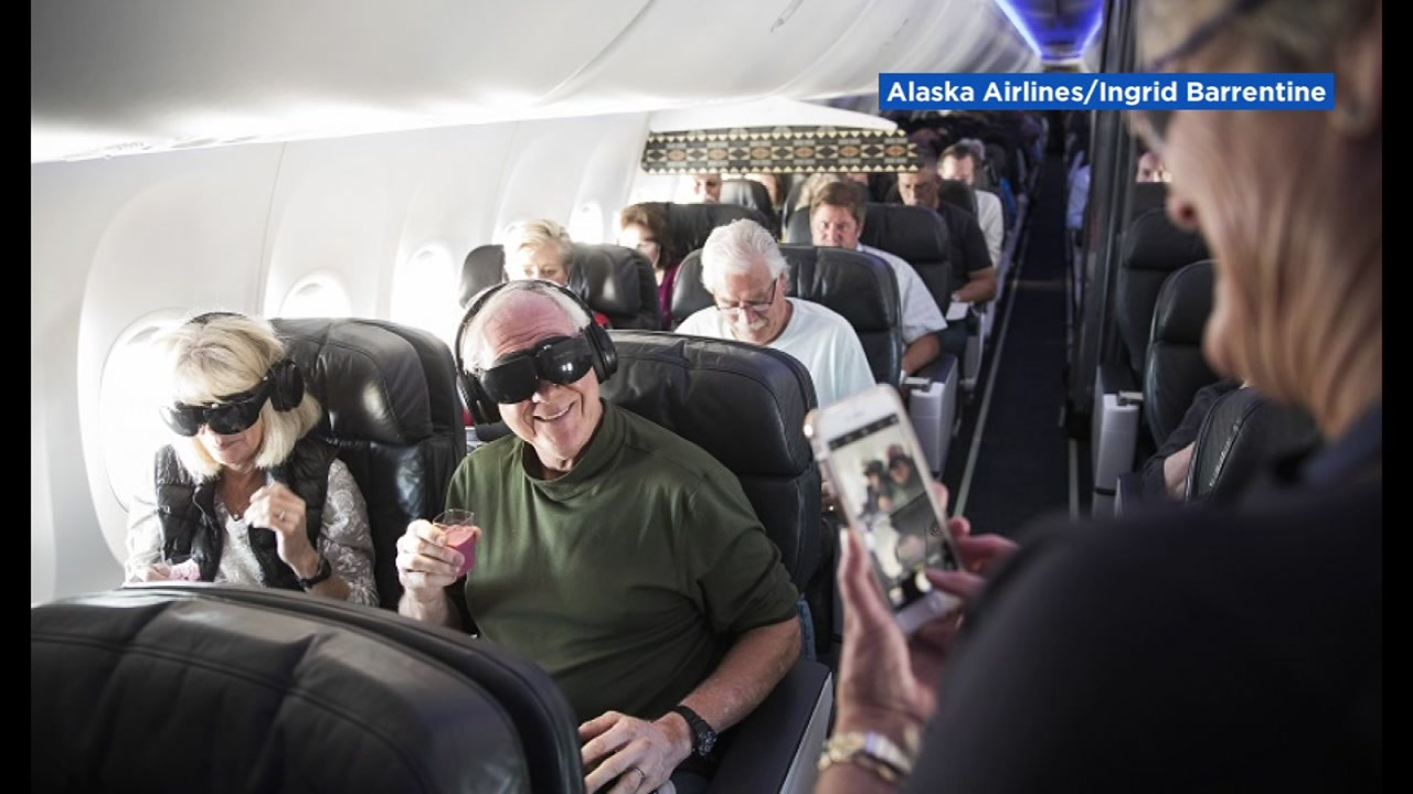 FILE -- Virtual reality on Alaska Airlines flight.