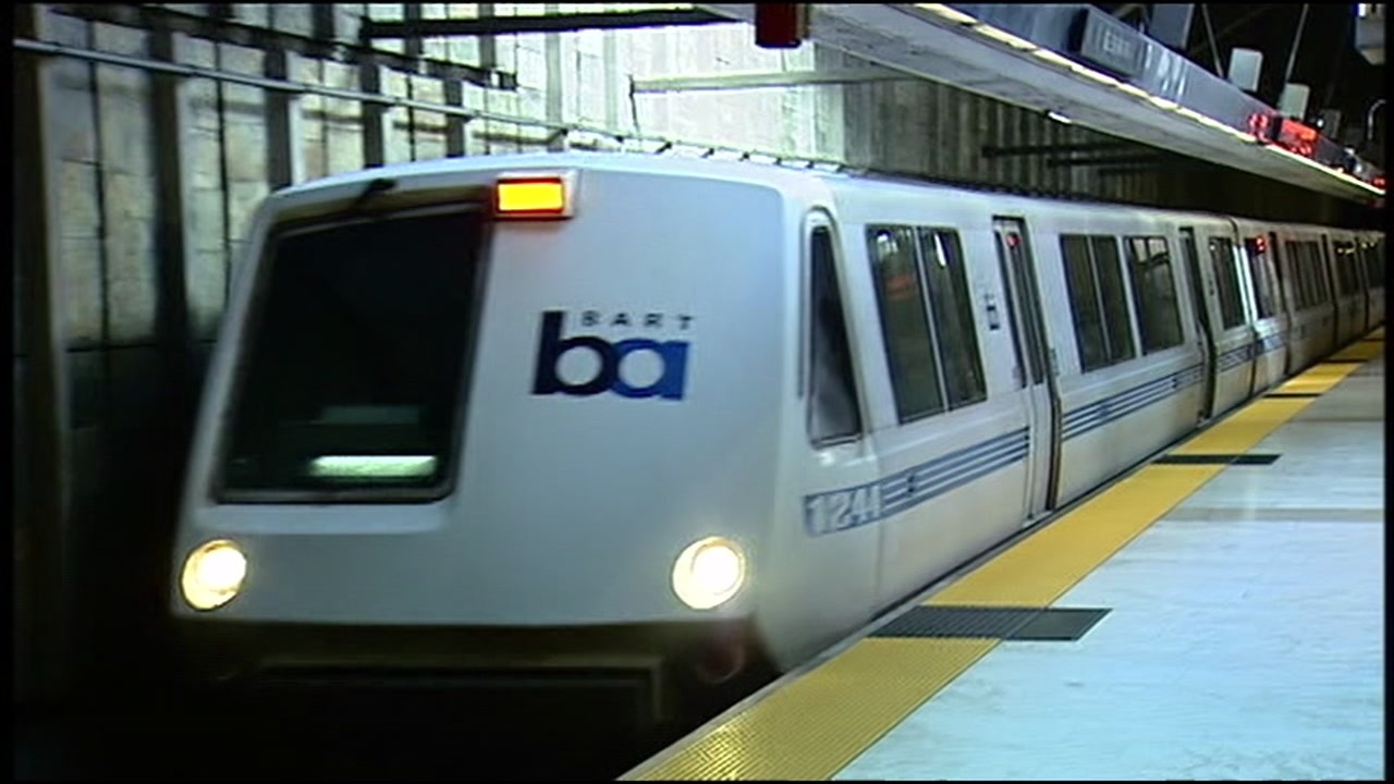 A BART train is pictured in this undated file photo.