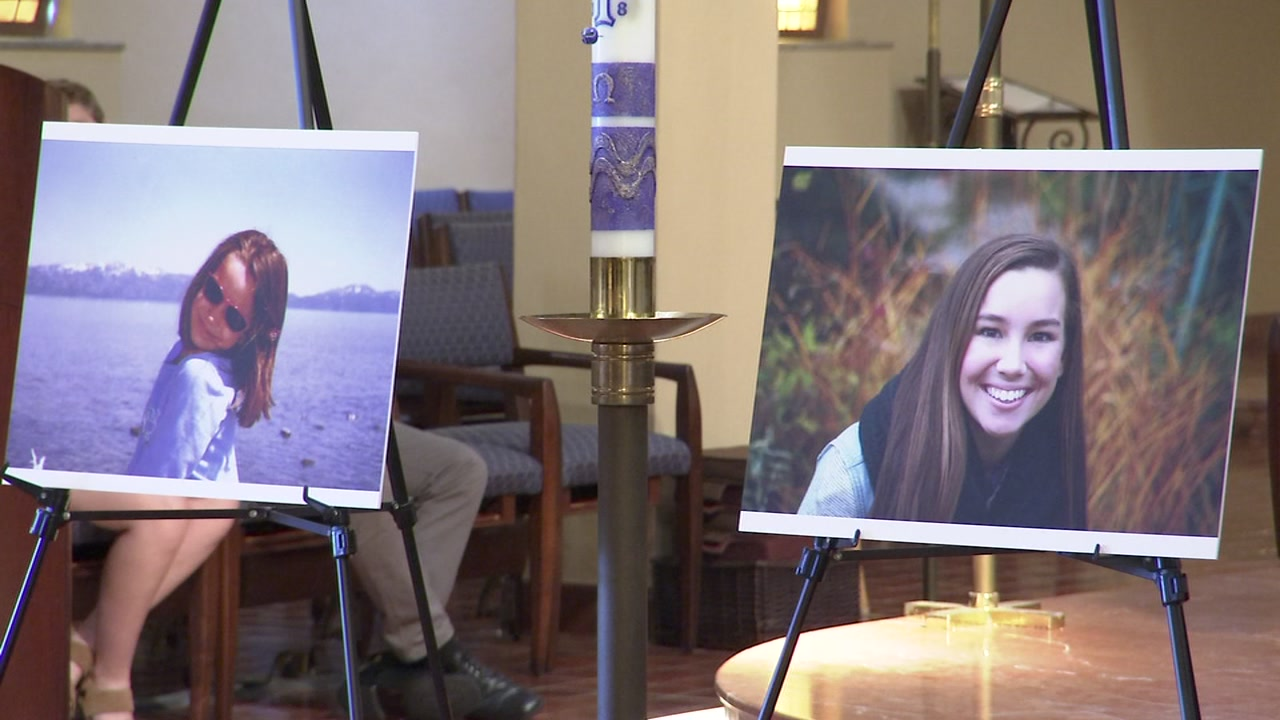 A memorial was held for Mollie Tibbetts, whose family once lived in the Bay Area, at Corpus Christi Church in Piedmont, Calif., on Sept. 29, 2018.