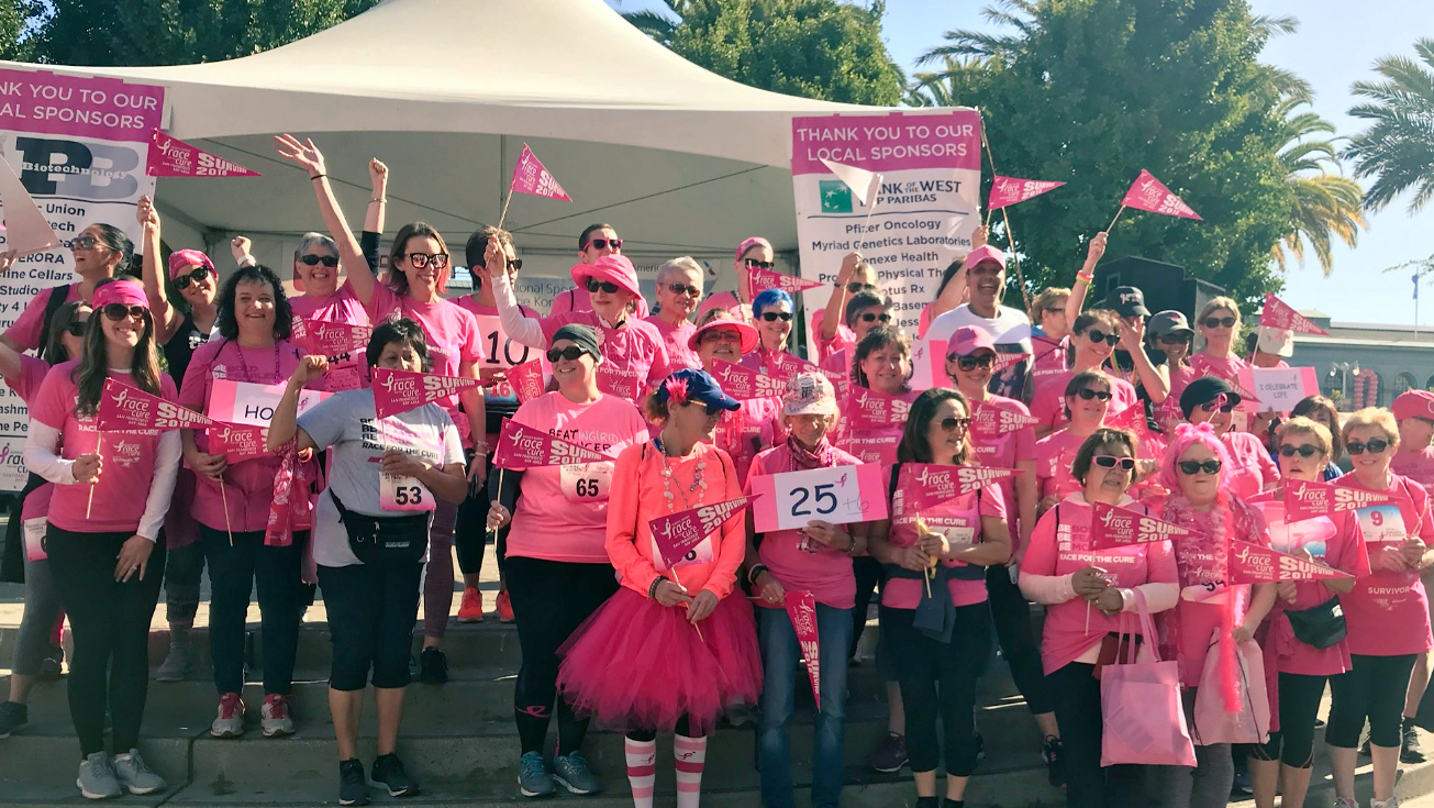 Susan G. Komen participants in San Francisco on Sunday, September 30, 2018.