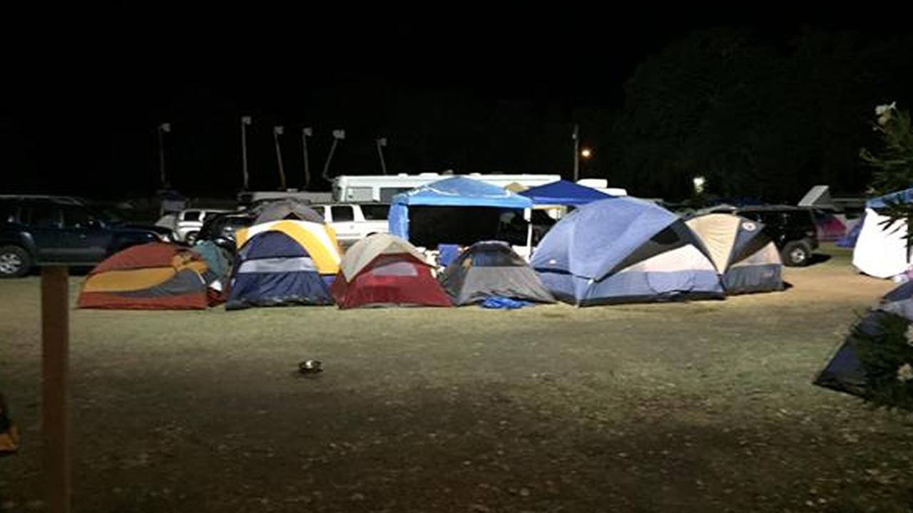 More than a thousand evacuees are at the Napa County Fairgrounds in Calistoga, Calif.,  because of the Valley Fire on Tuesday, September 15, 2015.
