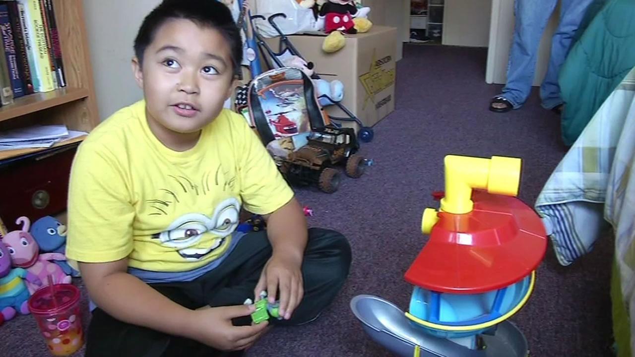 9-year-old Lloyd Santos