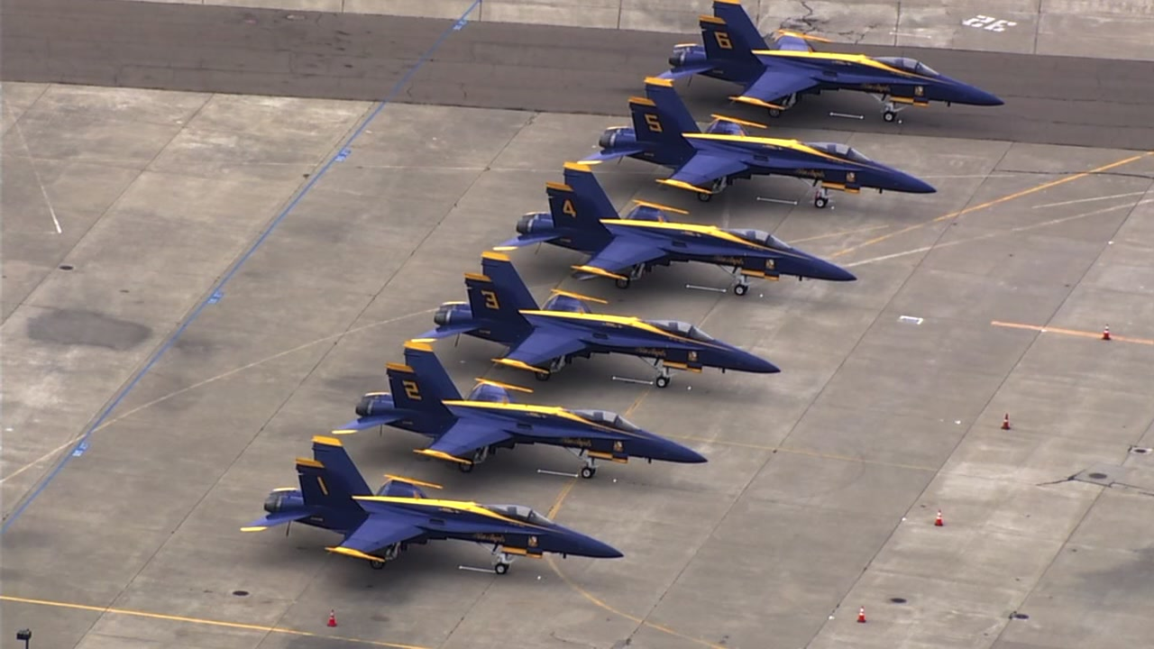 SKY7 was over the Blue Angels at Oakland International Airport on Monday, Oct. 1, 2018.